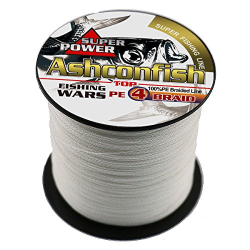 - Ashconfish Super Strong Braided Fishing Line-4 Strands Fishing Wire 500M/546Yards 30LB White