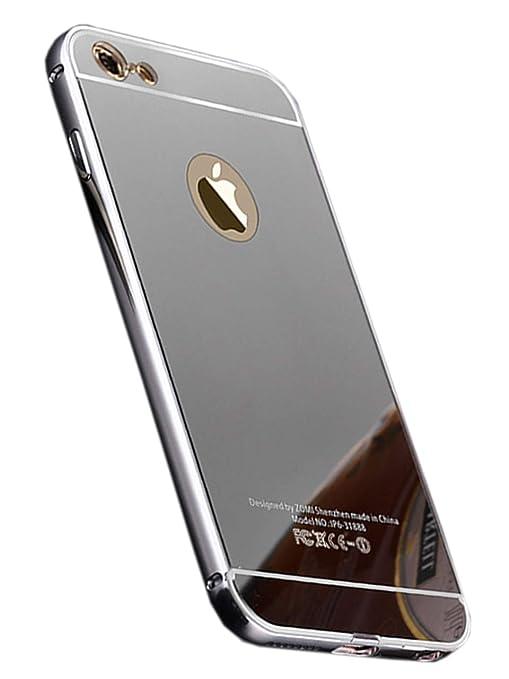 d83d321941 Amazon | [アイ・エス・ピー]isp 正規品 スマホケース iPhoneX/8/7/6/6s plus/5/5s/se 耐衝撃 薄型スリム PC  アルミバンパー メタルフレーム カバー ミラー メッキ ...