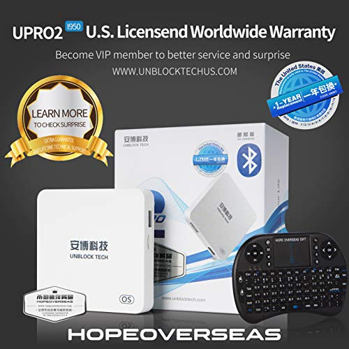 HOPE OVERSEAS 2019 Latest unblock tech Model UBOX PRO2 i950 US Licensed Version Box Contain Surprise Accessories with World Wide Certification