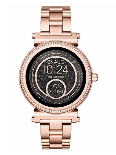 Michael Kors Rose Gold Crystal Sofie Gen Smart Watch (Michael Kors Womens Crystal)