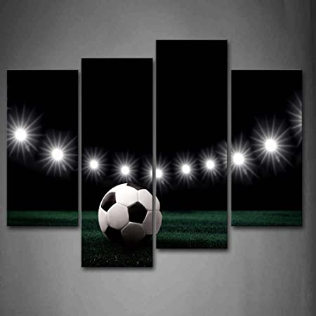 First Wall Art – Eleven White Lights And A Soccer Wall Art Painting Pictures Print On Canvas Art The Picture For Home Modern Decoration