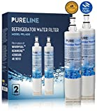 water filter 4392857 - Pure Line Water Filter, Compatible with Whirlpool 4396510, W10186668, NLC240V, 4396510, WF285, 4392857, 4396163, 4396547, 8212491, 46-9010, 46-9902, 46-9908 models (2 Pack)