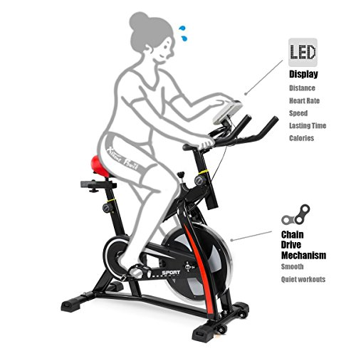 Exercise Bike Tall Person: XtremepowerUS Indoor Cycle Trainer Fitness Bicycle