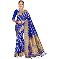 ELINA FASHION Sarees For Women Banarasi Art Silk Woven Saree l Indian Wedding Traditional Wear Sari