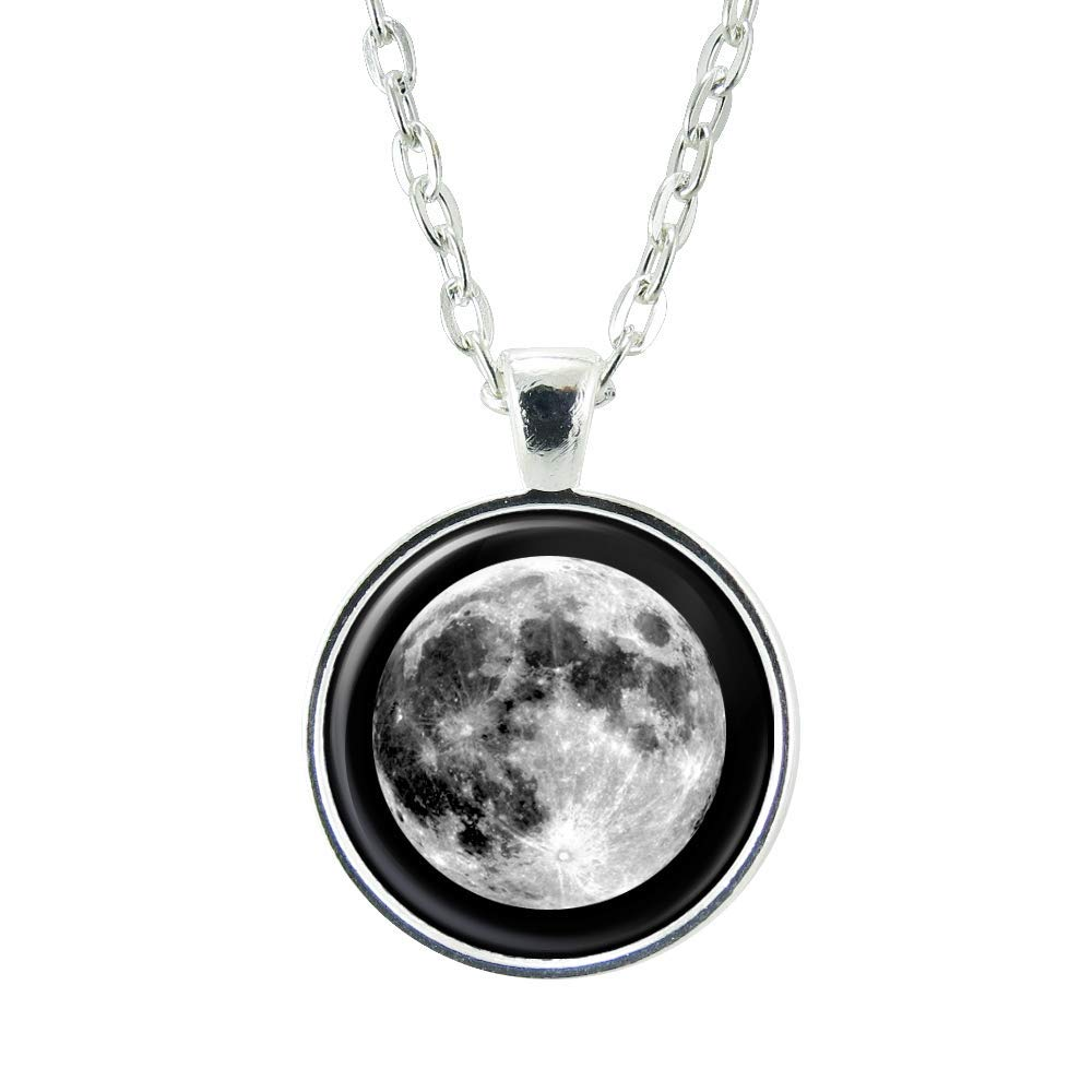 custom jewelry personalized gift personalized jewelry moon necklace personalized necklace Custom moon phase necklace with gift card