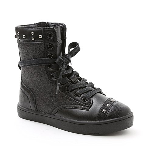 Pastry Military Glitz Sneaker Boot Dance Shoe Youth (2, Black)