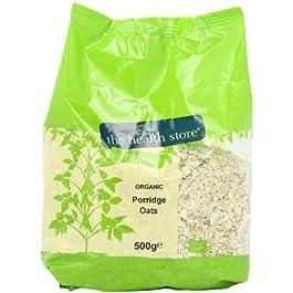 Health Store Organic Porridge Oats 500 g (Pack of 6)