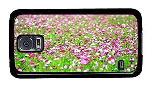 Hipster Samsung Galaxy S5 Case funny cases cosmos flowers field PC Black for Samsung S5