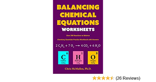 Amazon.com: Balancing Chemical Equations Worksheets (Over ...