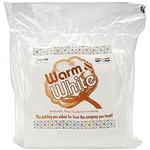 Warm Company Batting 72-Inch by 90-Inch Warm and White Cotton Batting, Twin