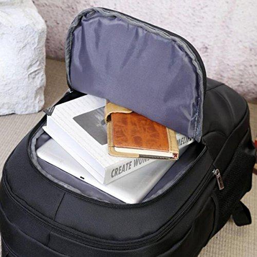 Multifuncional La De Pulgadas 16 De Black Computadora Mochila Bolsa Moda Bx7n5qf