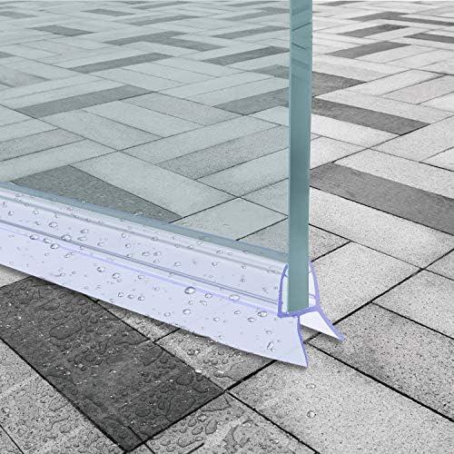 Qhui 2 x 100 cm Tira de sellado curvada Derecho para mampara de ...