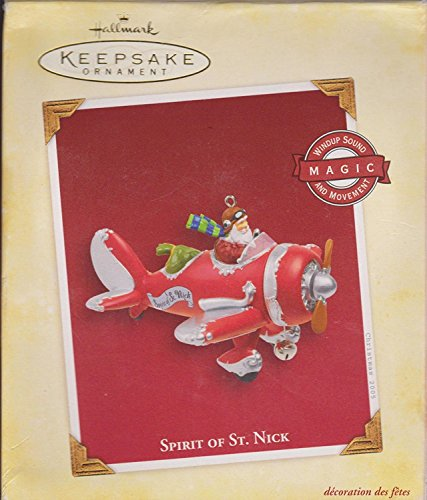 Retired Hallmark Christmas Ornaments (Hallmark Orginal Spirit of St. Nick Red (Retired 2005) Magic Ornament)