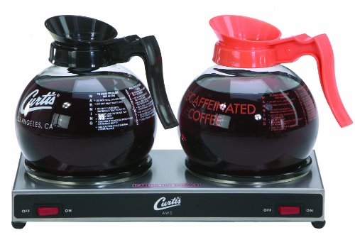 Wilbur Curtis Decanter Warmer 2 Station Warmer, Low Profile - Hot Plate to Keep Coffee Hot and Delicious  - AW-2-10 (Each) by Wilbur Curtis