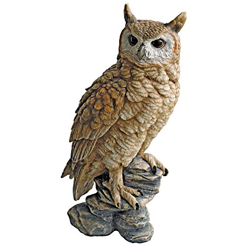 Design Toscano Perching Forest Owl Statue, Multicolored