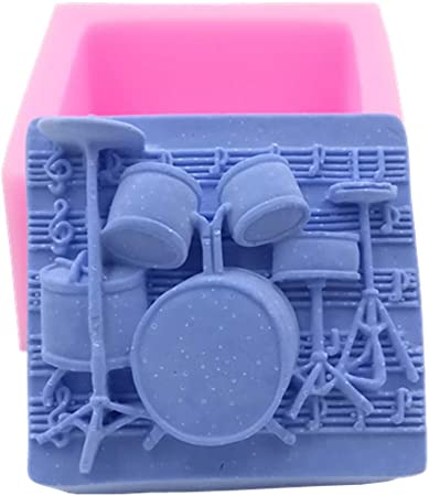 Schokolade Kerzen Muffins Saxophone Basteln Great Mold Trommeln Silikon-Seifen-Formen f/ür handgefertigte Seife
