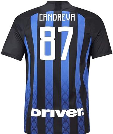 2018-19 Inter Milan Home Football Soccer T-Shirt Maglia (Antonio ...