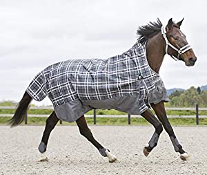 Horze Avalanche 1200D Ripstop Waterproof Turnout Sheet with Quick Dry Fleece Lining and Wither Relief Technology