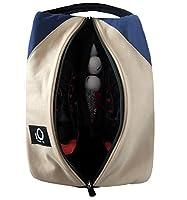 Golf Shoe Bag for Men Women, Deluxe Canvas Zipper Tote Large Travel Organizer, Basketball Soccer Gym Sport Gift Pack Set