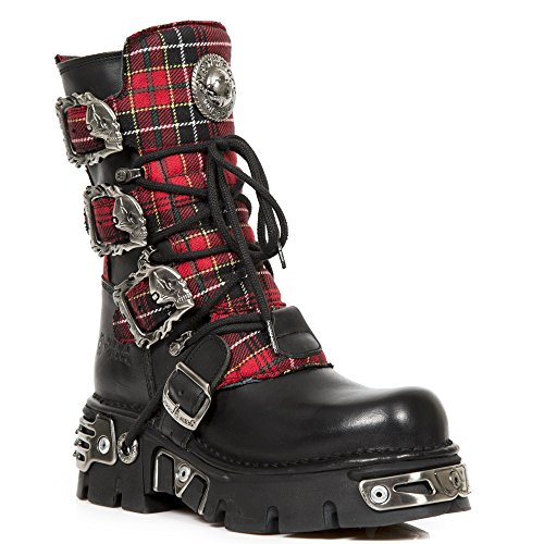 New Rock Metallic Rot Stiefel M.391T-S1