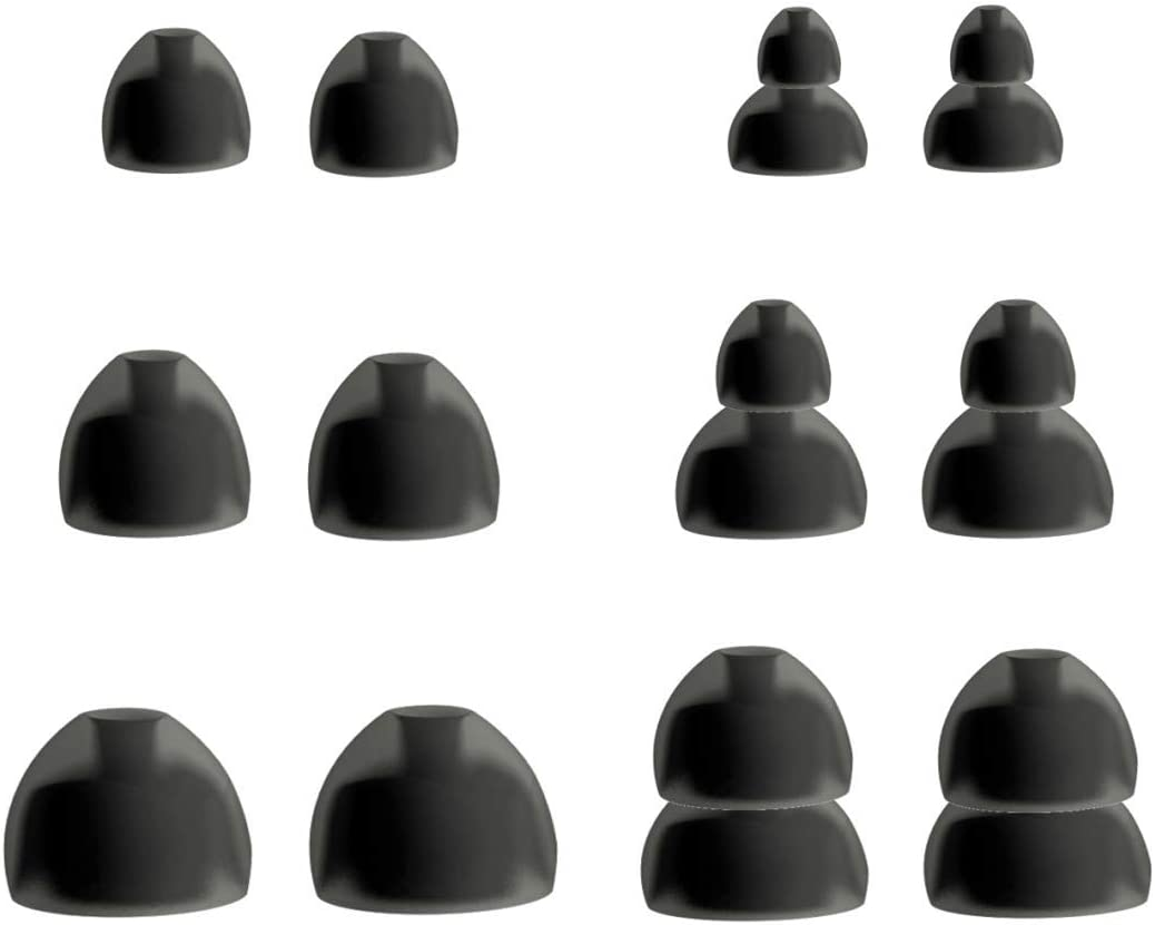 B 3 Pairs S//M//L 6 pcs Noise Isolation Eartips Eargels for Series 1 and 2