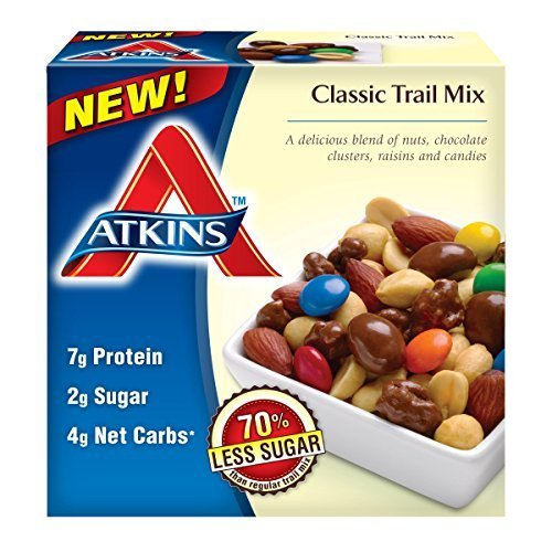 Atkins Snacks, Classic Trail Mix, 6.7 Ounce, 5 Single Serve Packages