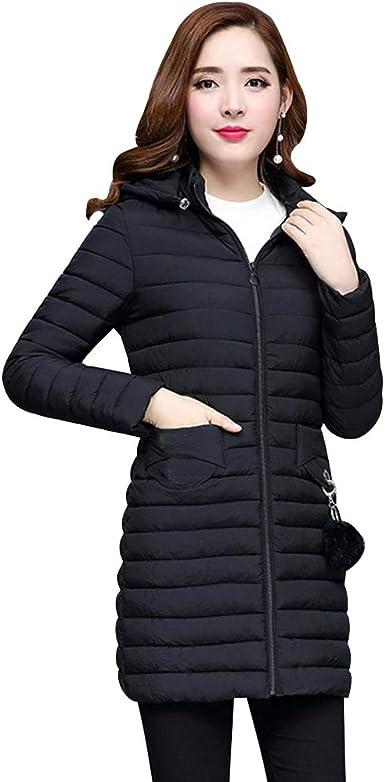 DAZISEN Mujer Abrigo - Casual Chaquetas Invierno Cálido ...