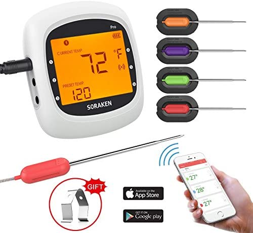 Wireless Thermometer Grilling Bluetooth Barbecue product image