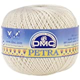 DMC Petra Crochet Cotton Thread, Size 5-Ecru (331754): more info