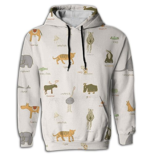 Price comparison product image Moose & Bear 3 Fashion Hoodies For Men Athletic Sweatshirts Youth Front Pocket Pullover Cool Hoodies