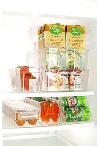 Perlli Fridge and Freezer 6-Piece Storage Organizer Bins