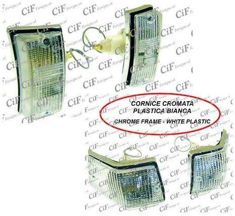 Kit intermitentes delanteros traseros cromado blancas transparentes para Vespa PX 125/y CIF