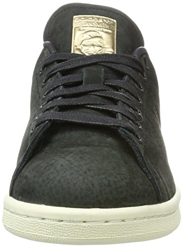 Originals 5 UK 7 Women's adidas US Golden and Originals Black Leaf Stan 5 Sneaker Black Nubuck Smith R44wqA