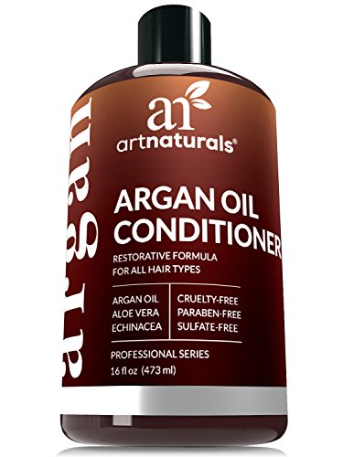 ArtNaturals Argan Oil Hair Conditioner - 16 Oz - Sulfate Free - Best Treatment for Damaged & Dry Hair - Made with Organic Ingredients & Keratin - For All Hair (Hair Treatment Conditioner)
