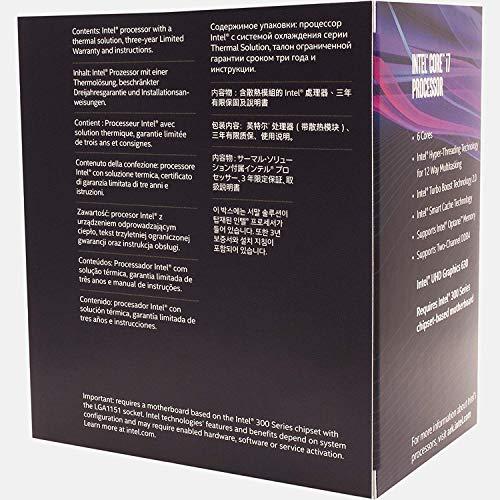 Intel Core i7 8700 Cpu Processore, Argento