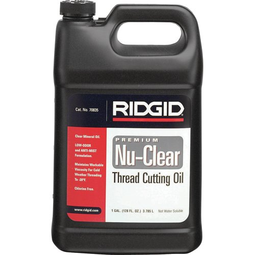 Ridgid 32808 Endura-Clear Thread Cutting Oil, 1-Gallon (Lubricant Cutting Metal)
