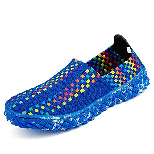 SITAILE Womens Slip On Woven Shoes Outdoor Fashion Breathable Casual Athletic Walking Sneakers -