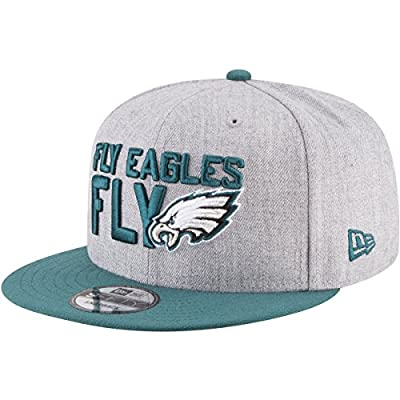 New Era Philadelphia Eagles Official 2018 NFL Draft On-Stage Snapback 9Fifty Adjustable Hat - Heather Grey from New Era