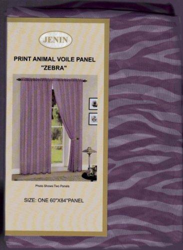 Purple Zebra Print Sheer Panels