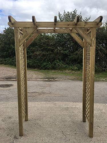 Simply Wood Elegance - Arco cuadrado de madera-: Amazon.es: Jardín