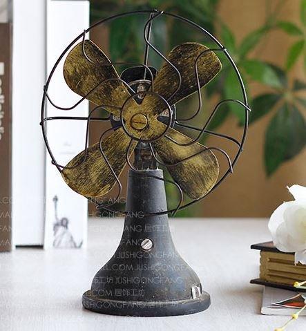 アンティーク風 レトロ 扇風機 ブラック オシャレ インテリア レトロ雑貨 B00IH2TMQQ