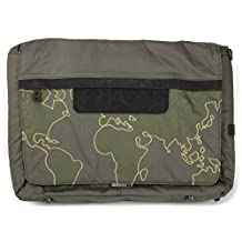 DURAGADGET Premium Quality Khaki 'Outline' Print Messenger & Shoulder Bag in Satchel-Style - Compatible with the Asus ROG G551JM-CN102H | ROG GL551JW-DS71 | ROG GL551JW-DS74 Gaming Laptops