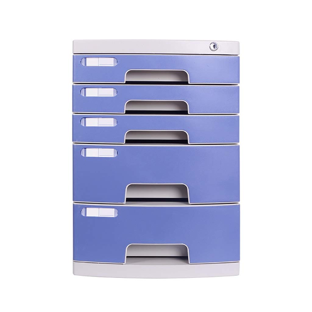 Flat File Cabinet, Drawer Organizer Multi-Layer Lockable with Blank Label Environmentally Friendly Plastic(39.429.543cm) (Color : A1, Size : 5-Layers)