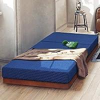 PrimaSleep PR04TM02S Tri-Fold Memory Foam Topper/Sofa Bed/Guest Bed/Floor Mat, Blue