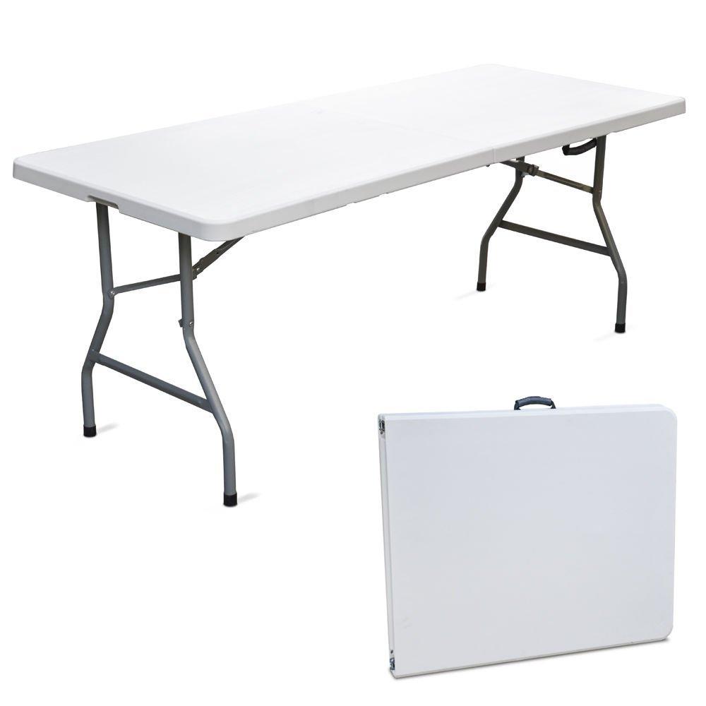 Tavolino pieghevole in resina dura bianco per campeggio e pic-nic