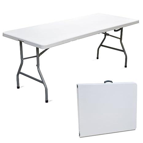 Savino Fiorenzo - Table pliante en résine dure 183 x 76 x 72 ...