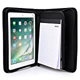 Cooper BIZMATE Padfolio Organizer case Compatible with Apple iPad Pro 9.7, iPad Air 2 1 | Business Executive Tablet Portfolio with A5 Notepad Paper Pad | Pen Holder, Card Pockets (Black)