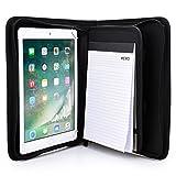 Cooper BIZMATE Padfolio Organizer case Compatible with Verizon Ellipsis 10 | Business Executive Tablet Portfolio with A5 Notepad Paper Pad | Pen Holder, Card Pockets (Black)