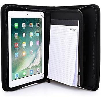 Amazon.com: KHOMO Universal Tablet Padfolio Zippered Case ...