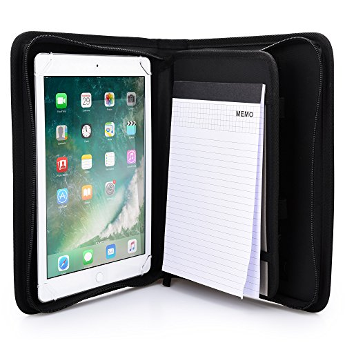 Cooper Bizmate Padfolio Organizer Case for Apple iPad Pro 9.7, iPad Air 2 1 | Business Executive Tablet Portfolio with A5 Notepad Paper Pad (Black)